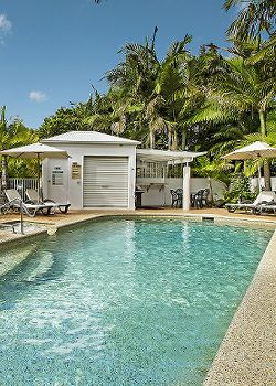 Portside Noosa Accommodation Pool and BBQ Area