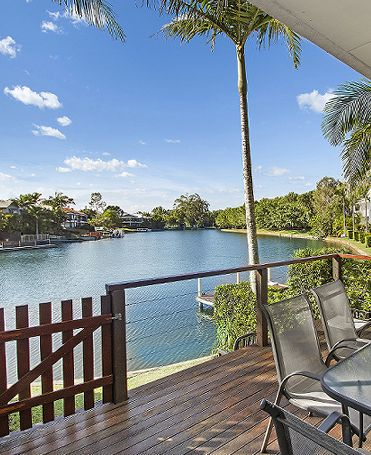 Private Balconies and Courtyards at Portside Noosa Waters